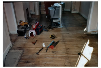 New wood flooring, Enfield. Oak engineered wood flooring installed..