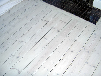 White wash floorboards, Richmond. Pine wood floor, white wash wood..
